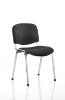 ISO Chair in Black Fabric with Chrome Frame - with Writing Tablet
