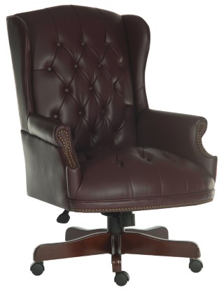 CHAIRMAN SWIVEL Super Large Traditional Executive Armchair