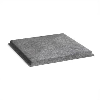 Acoustic felt fabric ceiling grid system tiles (10 pack) - charcoal T1-CH