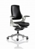 Zure Executive Chair Black Leather With Arms