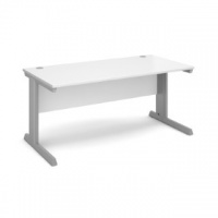 Vivo 1600 Straight desk White V16WH